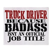 Badass Trucker Throw Blanket