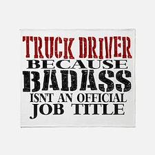 Badass Trucker Throw Blanket