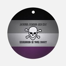 Asexual Pirates Ornament (Round)