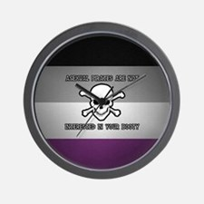 Asexual Pirates Wall Clock