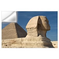 The Sphinx With The Pyramid In Background Wall Decal