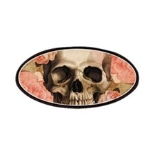Vintage Rosa Skull Collage Patches
