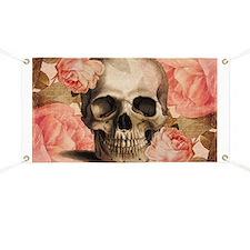 Vintage Rosa Skull Collage Banner