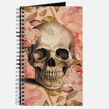 Vintage Rosa Skull Collage Journal