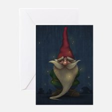Old Christmas Gnome Greeting Card