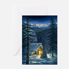 Christmas Snow Landscape Greeting Card