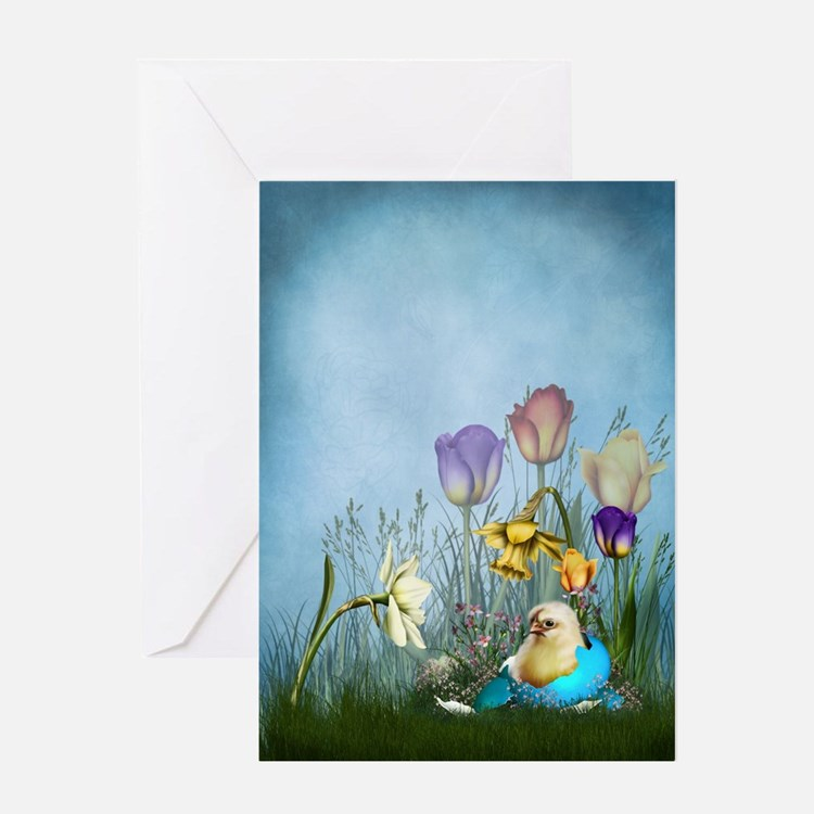 Easter Egg Chicken Greeting Card