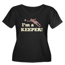 I'm a Keeper Soccer Goalie Plus Size T-Shirt