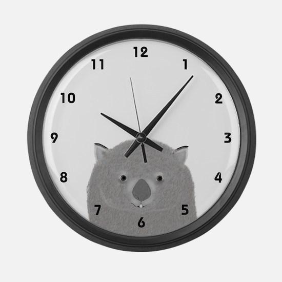 Wombat Large Wall Clock