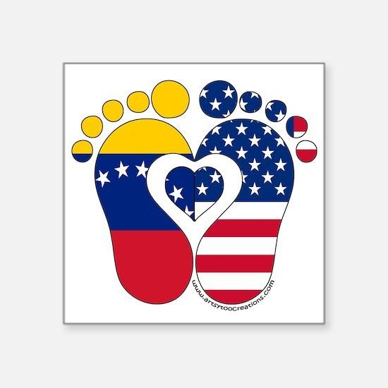 Venezuelan American Baby Sticker