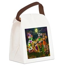 halloween Ghouls Canvas Lunch Bag