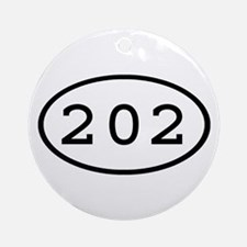 202 Oval Ornament (Round)