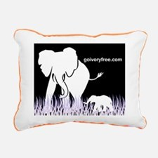 Elephant Lover Rectangular Canvas Pillow