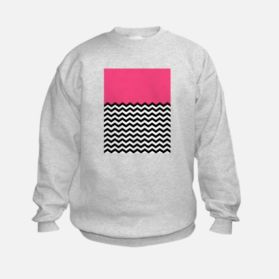 BLACK & wHITE cHEVRON WITH PINK Sweatshirt