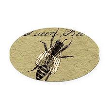 Queen Bee Oval Car Magnet