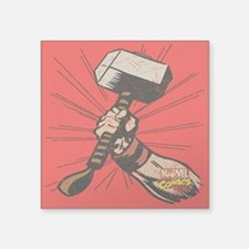 "Marvel Comics Thor Hammer R Square Sticker 3"" x 3"""
