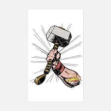 Marvel Comics Thor Hammer Retr Decal