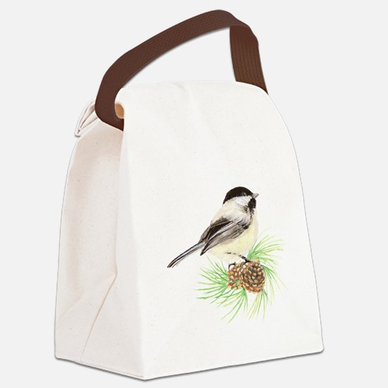 Chickadee Pine.png Canvas Lunch Bag