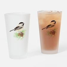 Chickadee Pine.png Drinking Glass