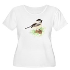 Chickadee Pine.png Plus Size T-Shirt