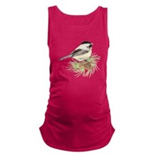 Chickadee Pine.png Maternity Tank Top