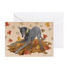 Playful Greyhoud Greeting Cards