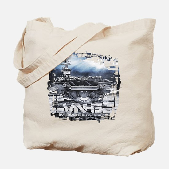 Aircraft carrier Dwight D. Eisenhower Tote Bag