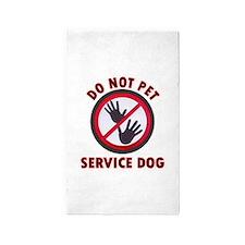 SERVICE DOG DNT 3'x5' Area Rug