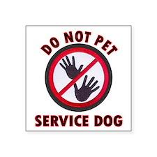 SERVICE DOG DNT Sticker
