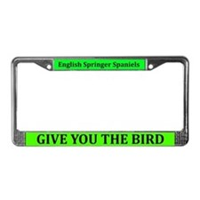English Springer Spaniels License Plate Frame