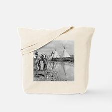 Indians Viewing Photo Negatives, 1913 Tote Bag