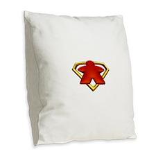 Cute Superhero Burlap Throw Pillow