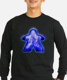 Blue Fire Meeple Long Sleeve T-Shirt