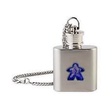 Cute Blue fire Flask Necklace