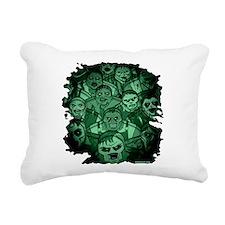 Unique Zombie on board Rectangular Canvas Pillow