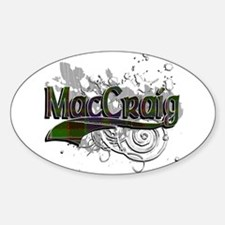 MacCraig Tartan Grunge Sticker (Oval)