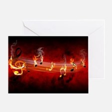 Hot Music Notes Greeting Card