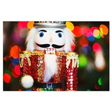 A Nutcracker Christmas Tree Ornament Poster