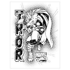 Marvel Comics Thor Retro Wall Art Poster