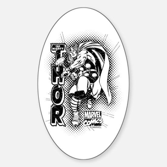 Marvel Comics Thor Retro Sticker (Oval)