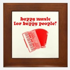 Happy Music for Happy People Framed Tile