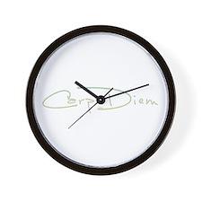 Funny Carpe diem quote Wall Clock