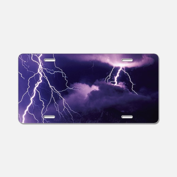 Purple storm 2 Aluminum License Plate