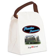 Trailer Treasure Vintage Canvas Lunch Bag