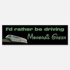 Monorail Green Bumper Bumper Bumper Sticker