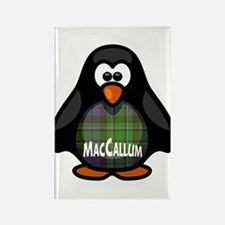 MacCallum Tartan Penguin Rectangle Magnet