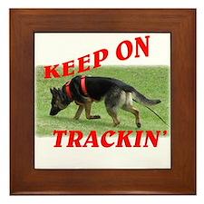 GSD tracking dog Framed Tile