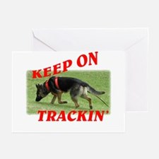 GSD tracking dog Greeting Cards (Pk of 10)