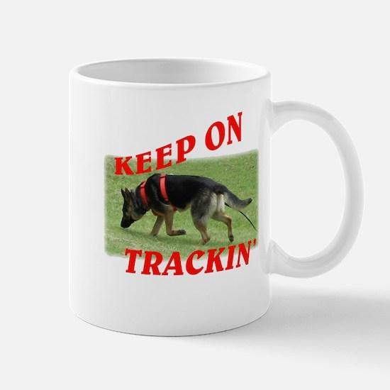 GSD tracking dog Mug