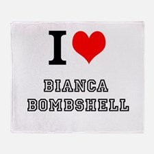 I Heart Bianca Bombshell Throw Blanket